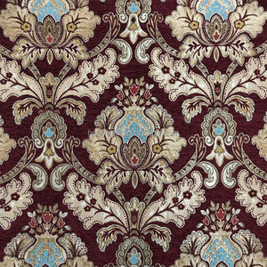 Chenille vintage upholstery fabric for antique furniture