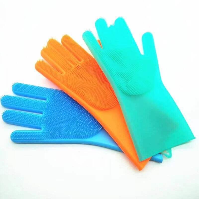 583B Silicone Pet Brush Bowl Wash Creative Scrubber Gloves