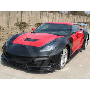 Kit de carrosserie large en Fiber de verre de Style supertechnique pour Chevrolet Corvette Stingray C7