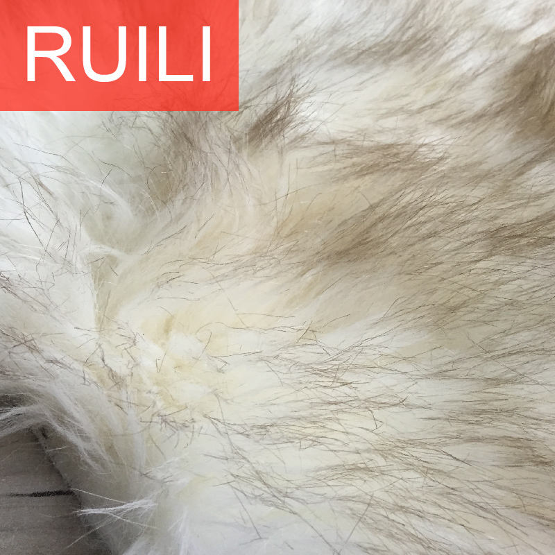 tip dyeing high quality acrylic faux fur for fabric for high garments