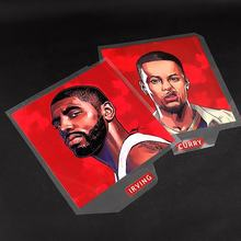 New Design Basketball Stars Poster Logo Iron-on Heat Transfer Printed Clothes Thermal Transfer Labels for Jerseys