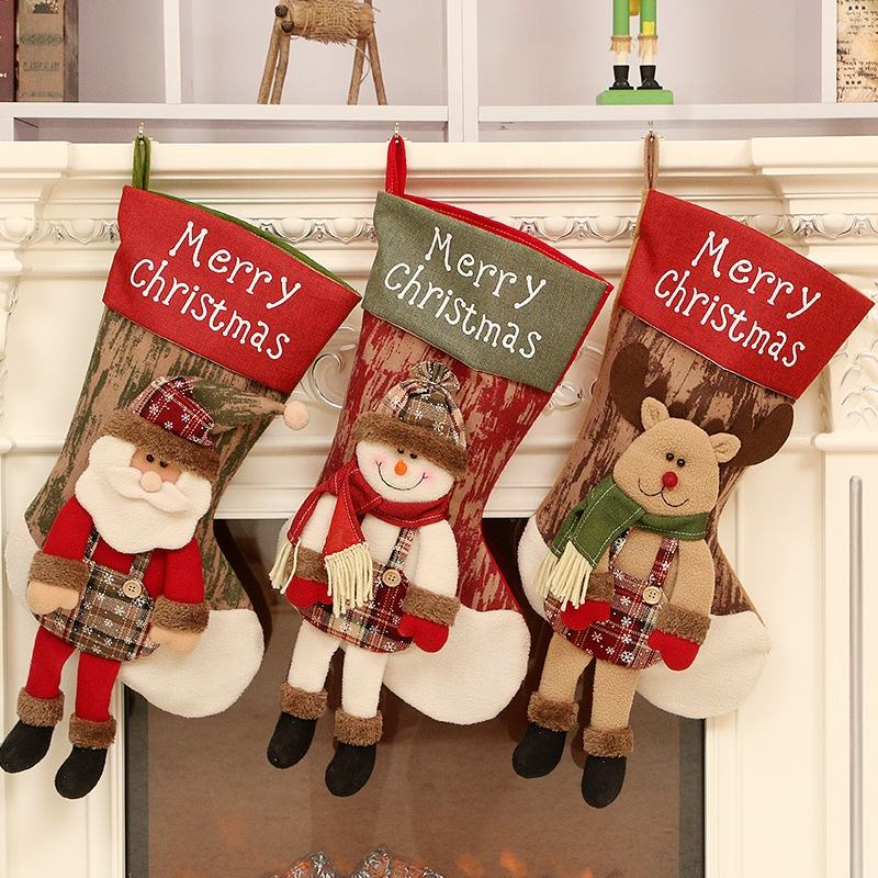 Promotional Gift Christmas Socks Decoration