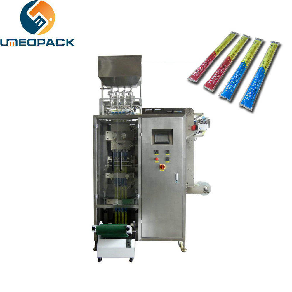 Multilane high speed ice lolly liquid stick pack packing machine