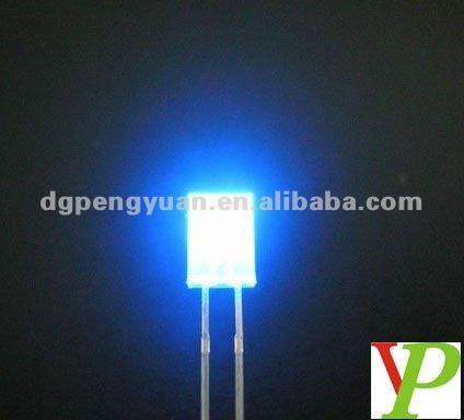 1000pcs 2x5x7mm Blue Diffused Led Rectangle Rectangular Light LED Lamp Bulb New