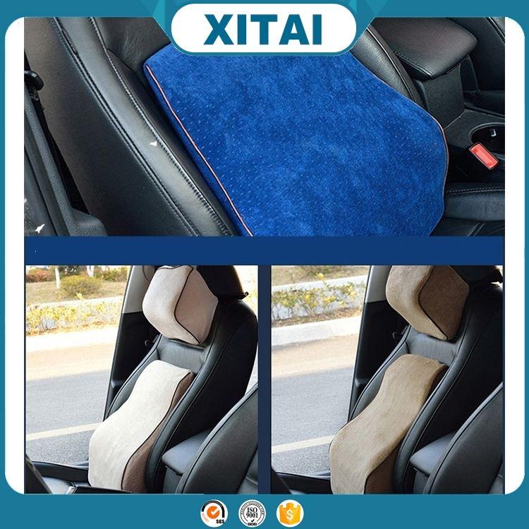 Nouveau design mémoire <span class=keywords><strong>visco</strong></span> mousse de voiture siège arrière taille et tête reste soutien oreiller ensemble
