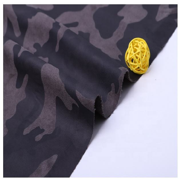 China manufacture polyester camouflage printing suede fabric for garment and jacket