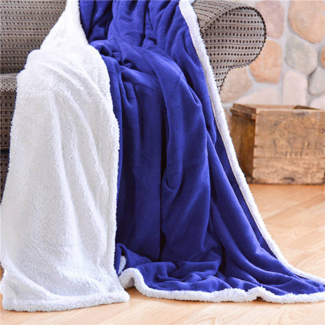 polar fleece knit polyester travel blanket, wholesale wool adult tv plaid blanket manufacture
