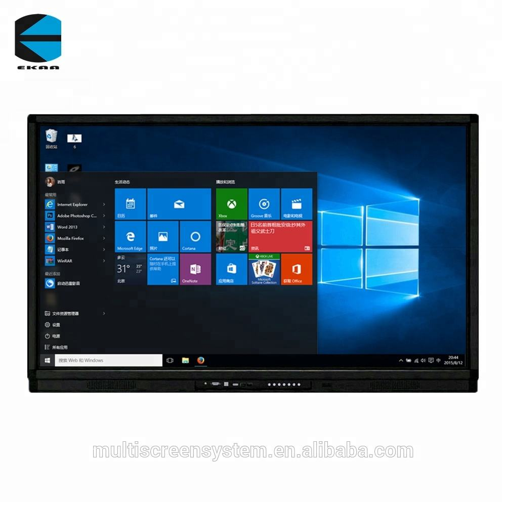 EKAA 65inch 4K resolution touch screen all in one pc tv build with I5CPU ,4G,1T bulk desktop computer