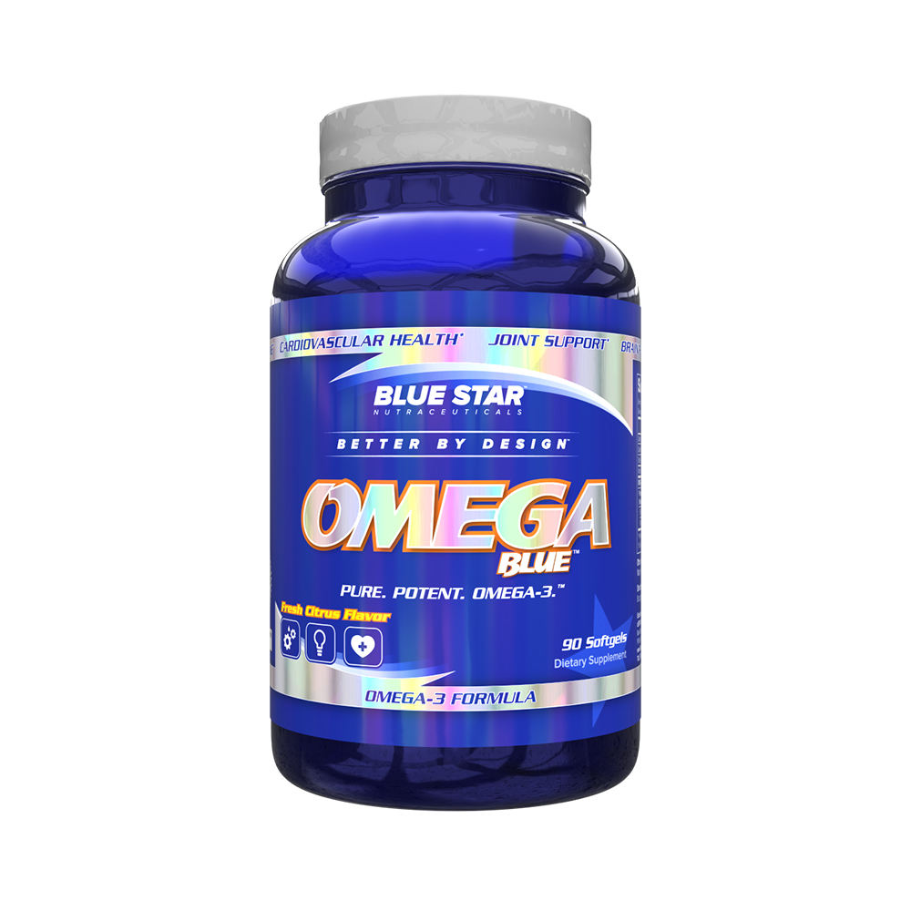 Health Supplement Nutrition Blue Star Best Capsules Omega 3 Fish Oil