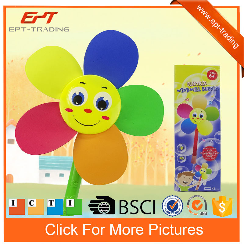 Sunflower design electric windmill bubble for sale
