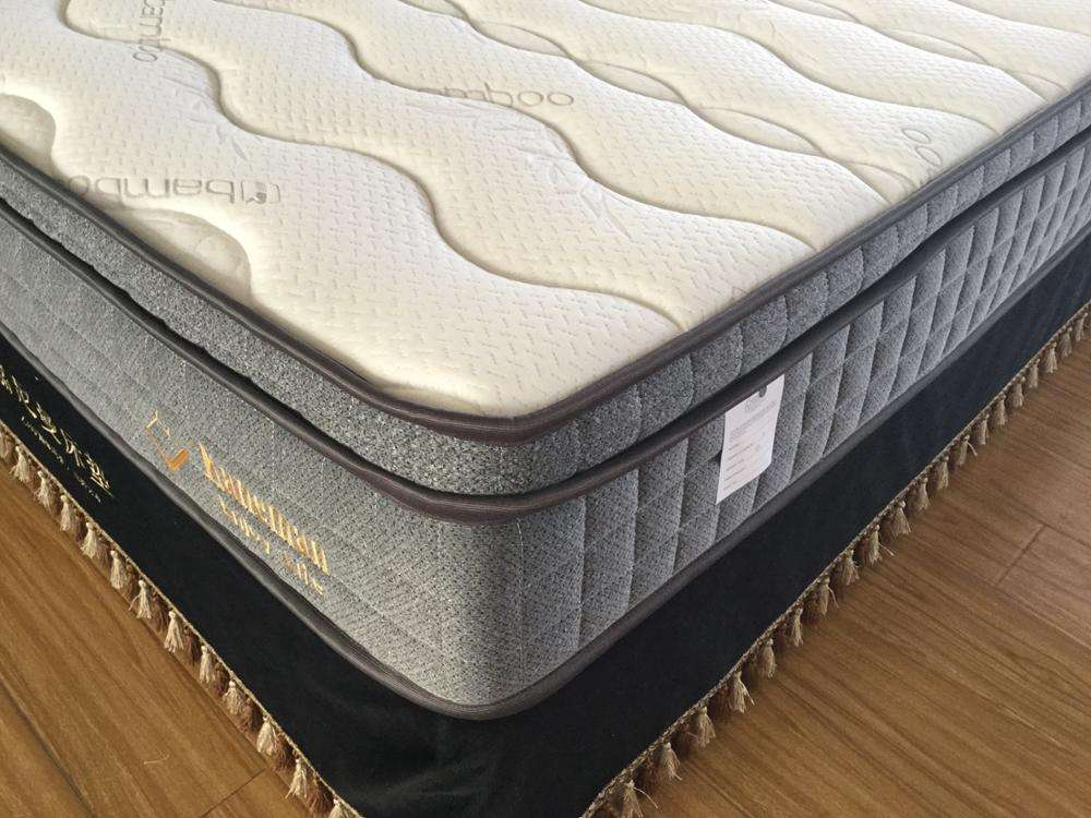 10 inch vacuum roll up packing king size latex pocket spring mattress in a box