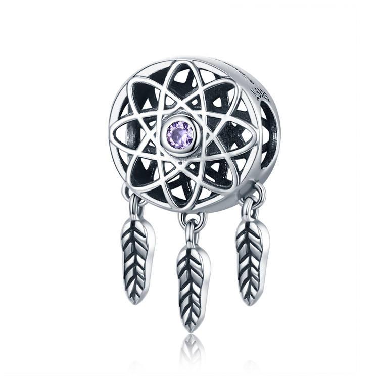 Fashion Accessories Wholesale 925 Sterling Silver Dreamcatcher Charm For Bracelet