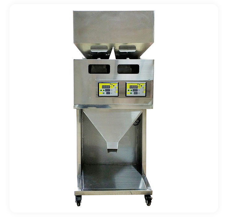 Factory Price Packaging Machines Custom Filling Machine Double Head Food Weighing Racking Machine Granular Powder Packing Machine For Factory Directly Sale