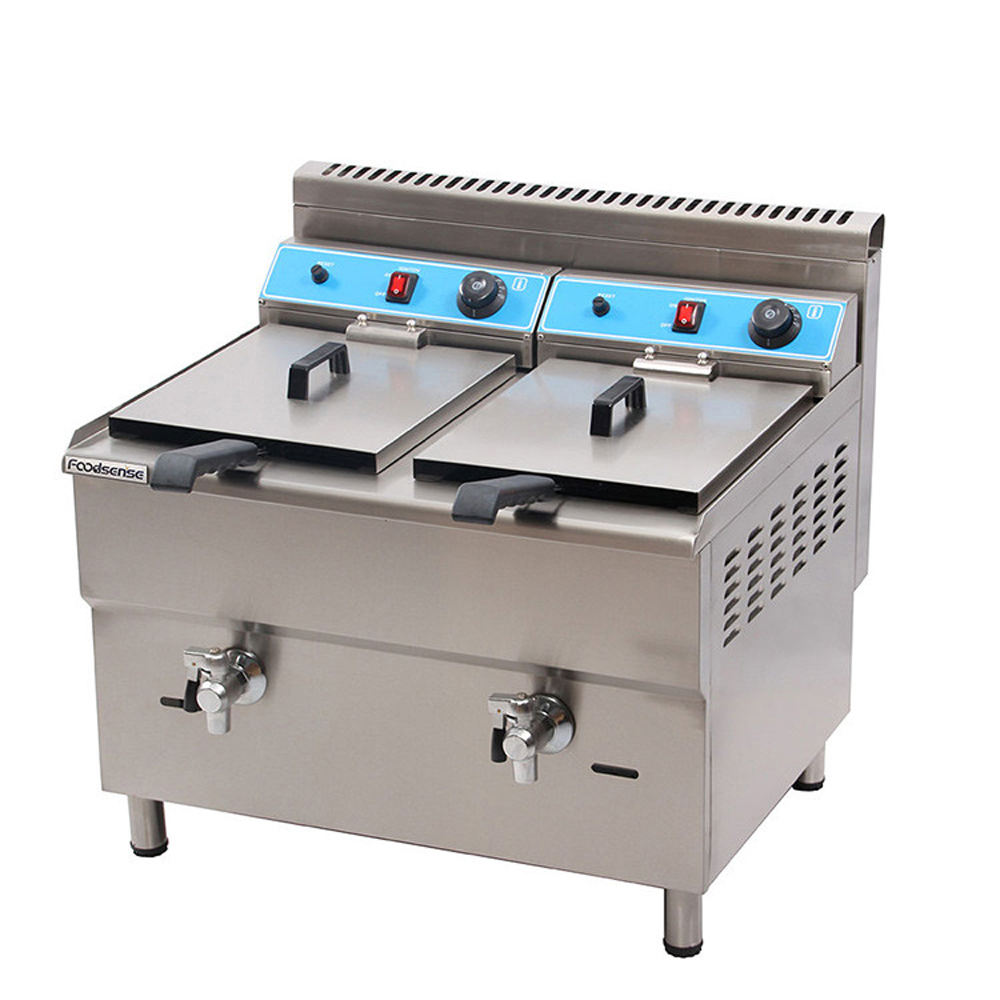 Industrial automatic temperature control propane gas double sided fryer basket deep fryer for chicken with frying parts