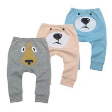 Redkite cartoon ass pattern beam foot soft cotton long pants baby
