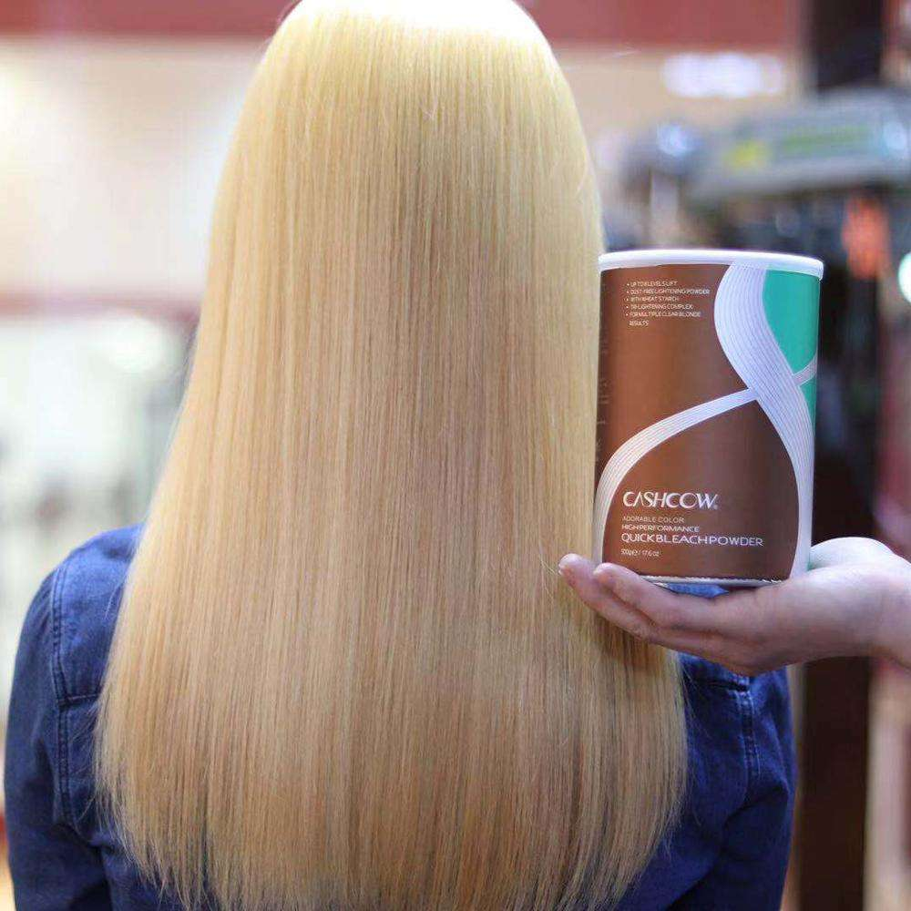 Professional hair bleach powder to warm up the lightened color