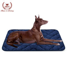 Dog Bed Mat Washable - Soft Velvet Crate Pad - Anti-slip Mattress for Small Medium Large Pets Products