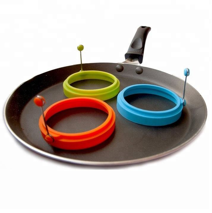 4 Pack Rond Silicone Oeuf Anneaux Pancake Moule, Anneau D'oeufs Frits