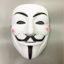 Wholesale Hot In Stock Plastic Carnival V for Vendetta Masquerade Mask Anonymous Party Mask