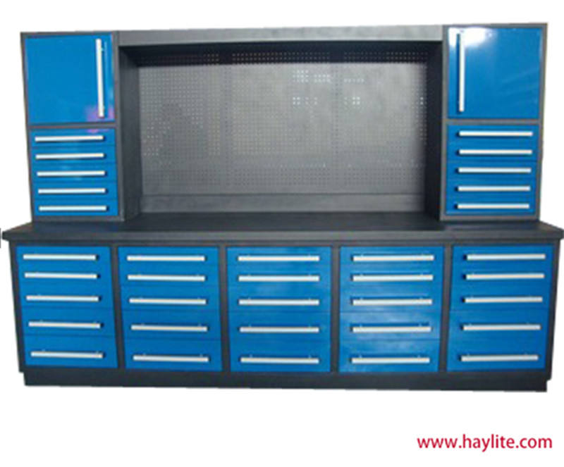 Metal tool cabinet used tool storage chest
