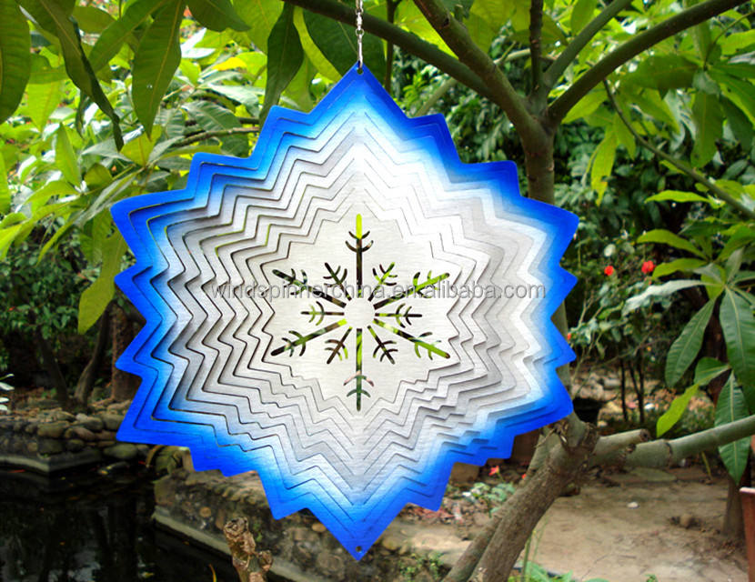 Wholesale stainless steel wind spinner--snowflake