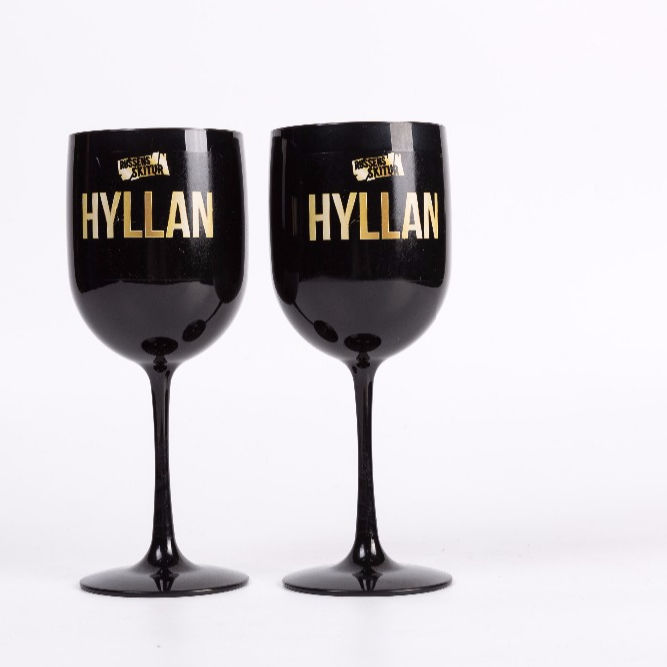 China Factory Champagne Wine Glasses Plastic Black Champagne Glass For Wedding
