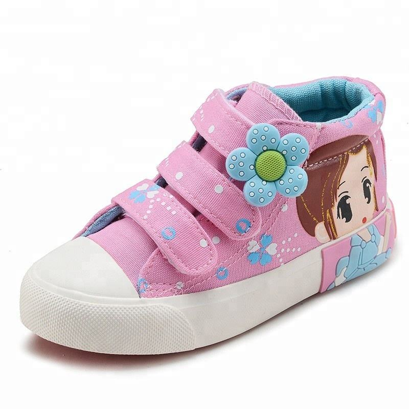 CV7001 (high) 저 (quality 만화 인화 무사 rubber 솔 new style latest fashion girls 캐주얼 canvas shoes