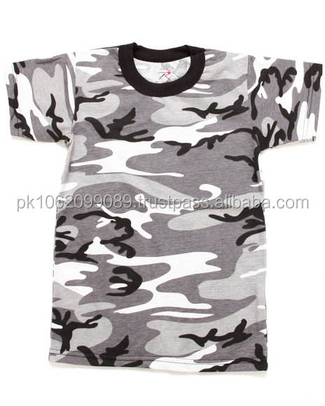 100% cotton sublimation shirts with custom design camo, summer camo shirts