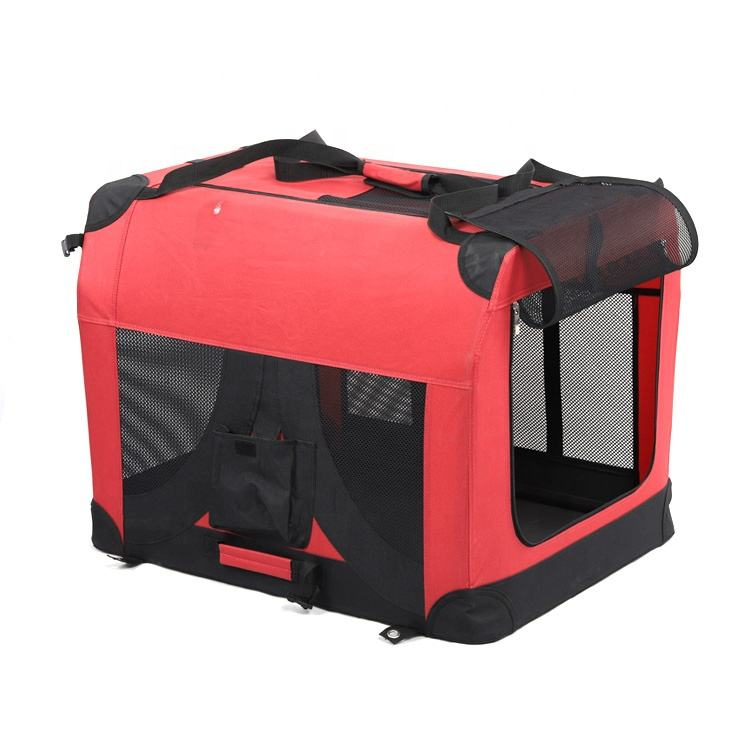 Stof grote outdoor draagbare hond kat zachte carrier pet travel kooi