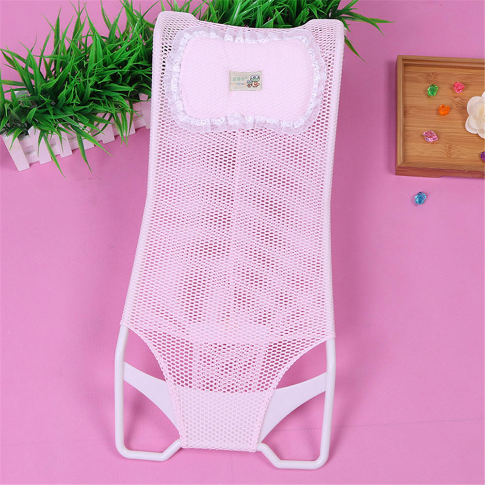 safety and anti-slip baby plastic bath bed baby bath net rack