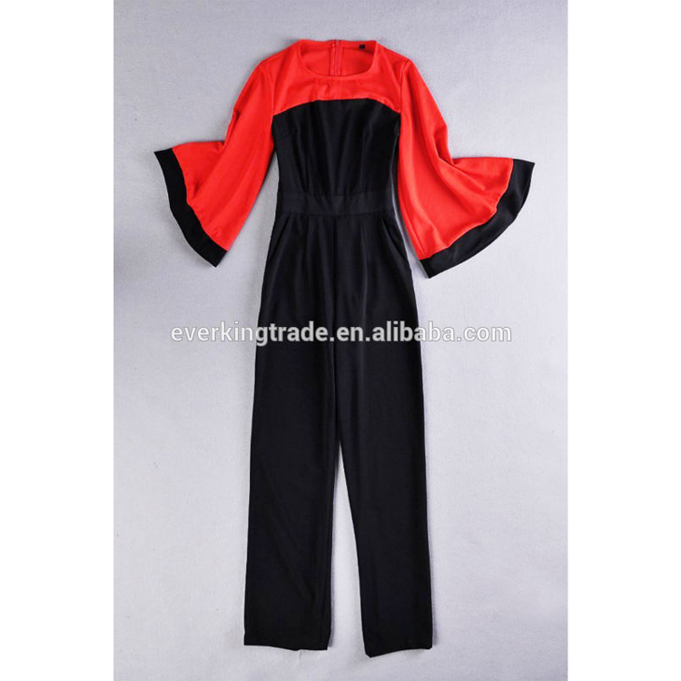 Fashion Woman Long Sleeve Jumpsuit