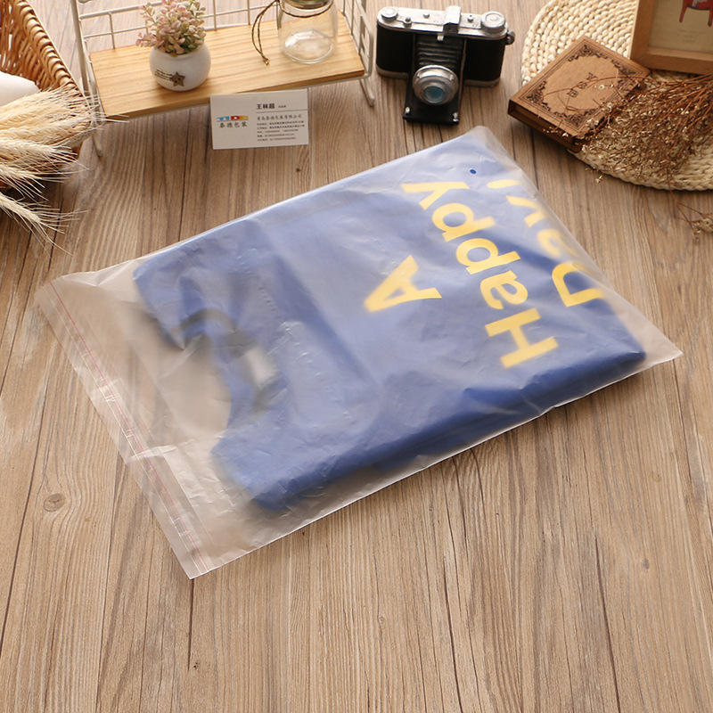 Frosted Poly Bags Custom Logo Opp Material Plastic Self Adhesive Seal Bag