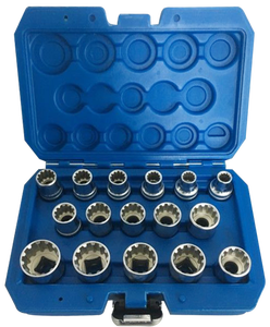 12-hoek Socket Set 16 stks met Storage Case