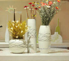 Home decorative hand painted ceramic modern flower vases
