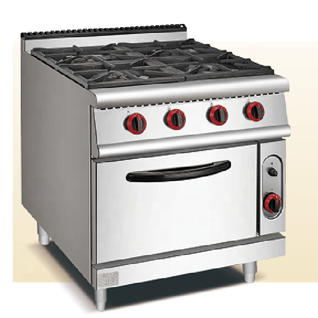 Commercial Kitchen gas range with electric ovens dual fuel cooking range