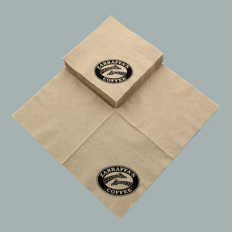 Kraft Beverage Napkin brown 100% Recycled Unbleached for bars, restaurants, caterers, banquets, and businesses
