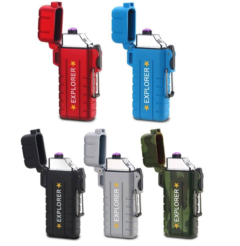 USB photoelectric induction waterproof dual arc lighter
