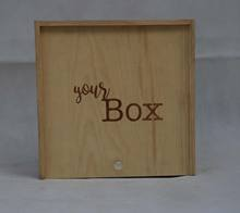 Wholesale price Keepsake Engraved Wood Photo Personalized Memory Craft Wooden Gift Box