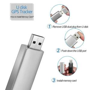 gaeruite Anti Theft Smart Tracker GPS Bluetooth PU Billetera para Hombre con Cable USB