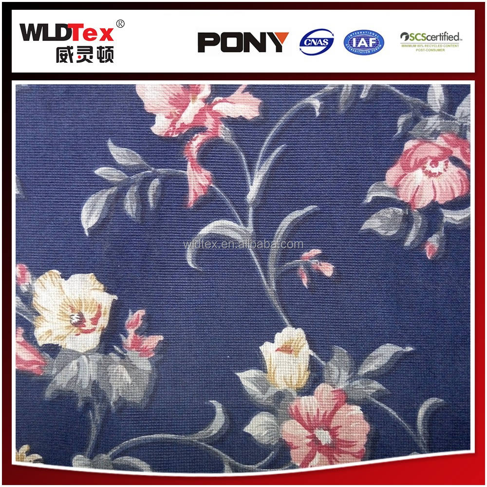 Venta caliente Custom stitch Flor Impresa Tela Del Sofá