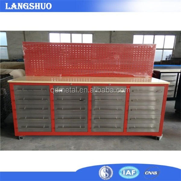 Steel Workbenches With Drawers/Tool Master Cabinet Roller Chest With Wood Top