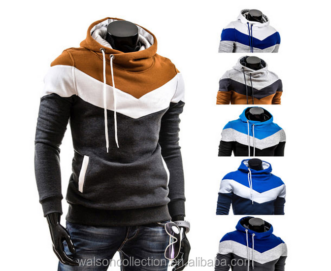 Stylish Mens Sport Hoodies No Zip Coat Sweatshirt Hooded Jacket for men