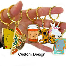 China manufacturers zinc alloy iron metal custom personalized soft hard enamel keychains