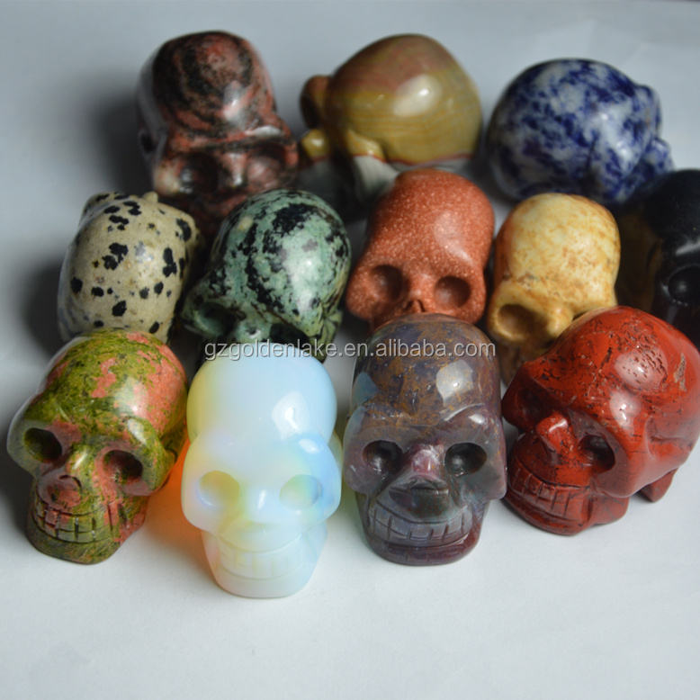 2017 wholesale gemstone skulls, semi agate skulls, big size skulls stone pendants