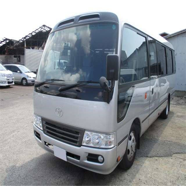 Cheap price Used Japan brandtoyota coaster bus 30 seats , japan hiace bus with toyota 6 cylinder diesel engine for sale
