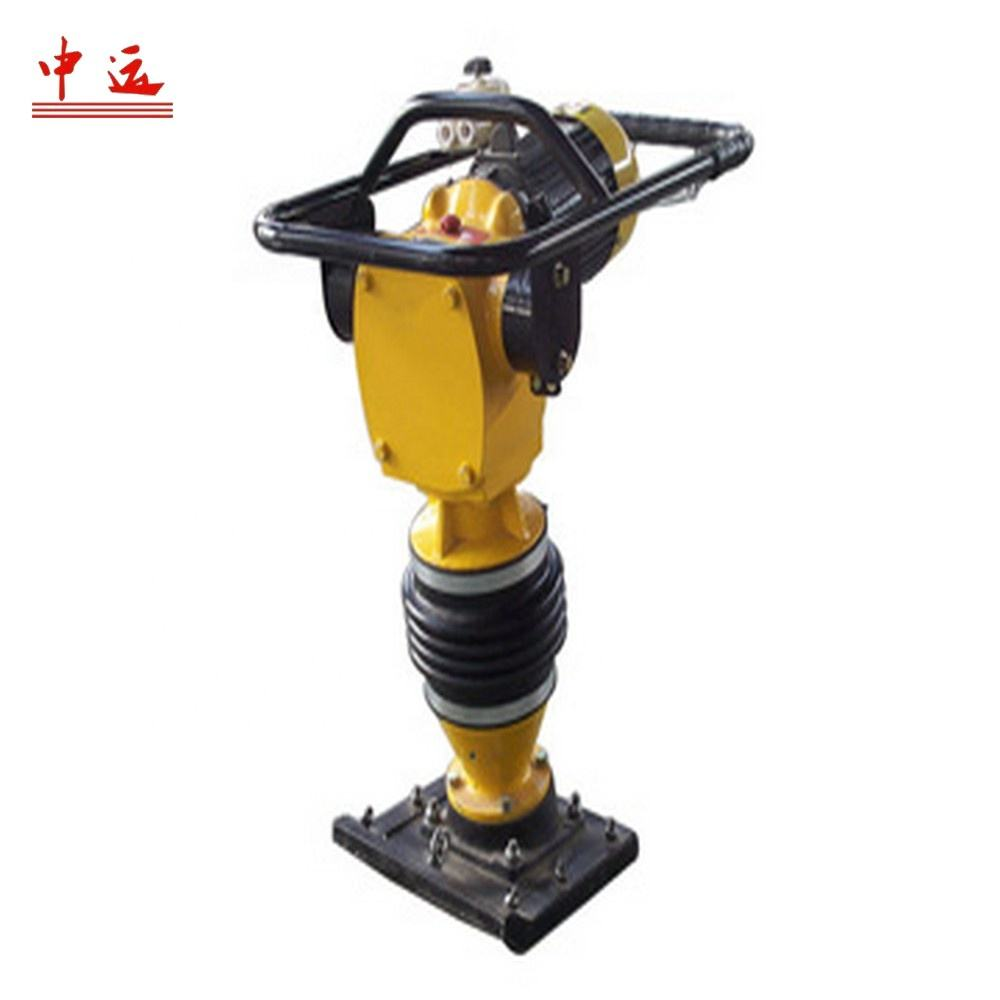 High Performance 80KG Petrol Engine Tamping Compactor Soil Rammed Earth Tamper Impact Shocking Rammer Machine
