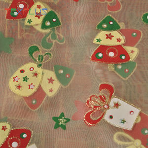 Christmas red and green design and carnival production with organza