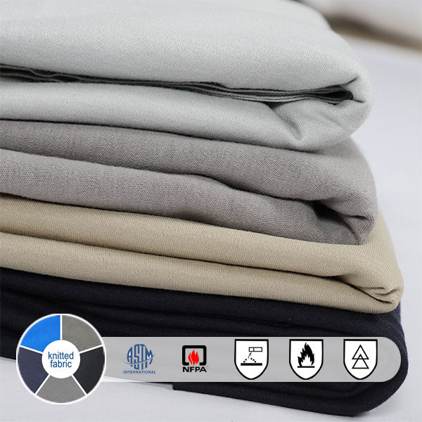 NFPA2112 UL Certificated Fr Cotton Knit Interlock Fabric For FR Knit Shirt