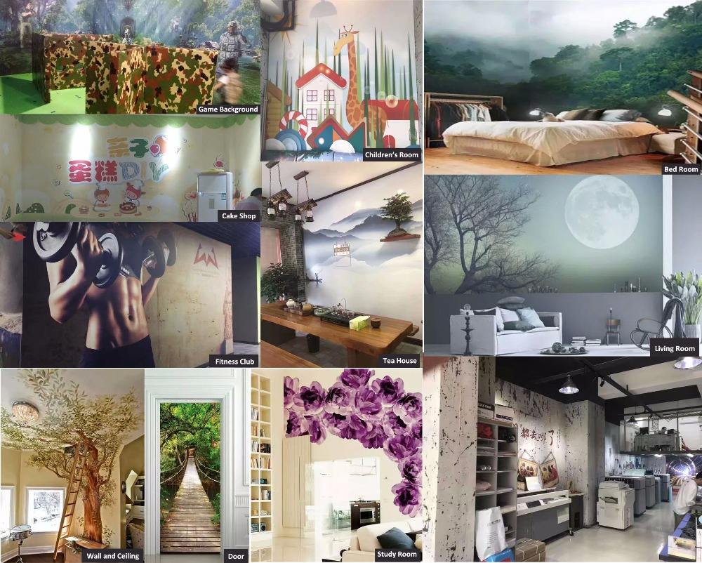 Eco-solvent home decoration material printable matte DIY wall paper wallpaper