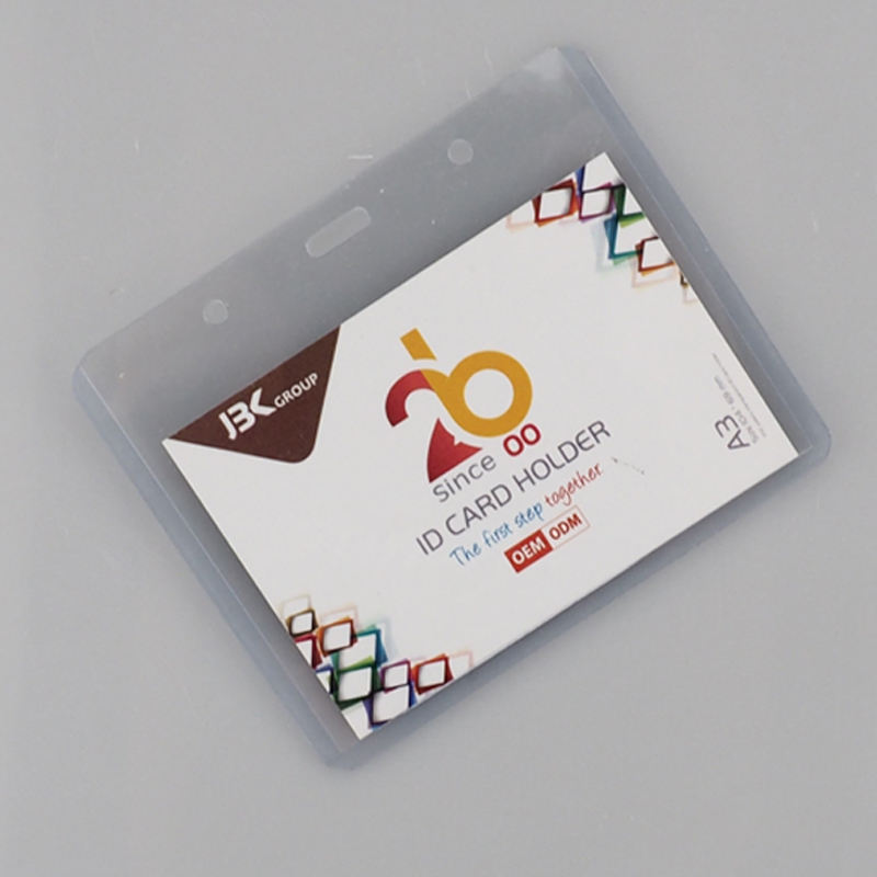 Custom Clear Soft PVC 플라스틱 ID Credit Card Holder